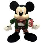 Boneco de Pelúcia Grande Mickey Mouse Natal 46cm - Disney