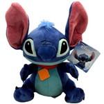 Boneco de Pelúcia Pequeno Personagem Infantil Stitch Azul Disney - 25 Centímetros de Altura - do Filme em Desenho Animado Lilo e Stitch - Long Jump