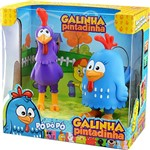 Boneco de Vinil Galinha Pintadinha com Galo Carijó Líder