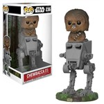 Boneco Funko Pop Star Wars Deluxe Chewbacca With At-st 236