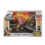 Boneco Jurassic World 2 Dilofossauro e Compsognathus FTD09/FTD10 - Mattel