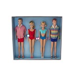 Bonecos Barbie, Ken, Midge e Allan Collector Double Date 50th Anniversary Giftset - Mattel
