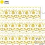 Bordado Marilda Mod. 53 Crochê - Cores 01 - Amarelo