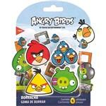 Borracha Top Angry Birds Cartela com 4 Unidades Tris