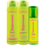Bossa Nova Cadiveu - Shampoo 250ml + Condicionador 250ml + Maxi Ondas 200ml
