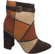 Bota Ankle Boot Dakota B7783 Patchwork | Dtalhe Calçados