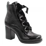 Bota Cano Curto Zariff Shoes Verniz Salto 462001 | Betisa