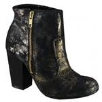 Bota Feminina Ankle Boot Cravo e Canela Preto 144301-1 144301-1 1443011