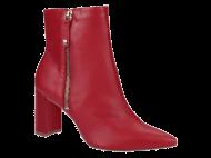 Bota Feminina Vermelho Cano Curto Tanara T2544 | Dtalhe Calçado