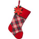 Bota Xadrez Vicky com Flor - 48cm - Christmas Traditions