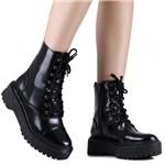 Bota Zariff Shoes Coturno Flatform Zíper Lateral | Betisa
