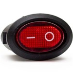 Botão Interruptor Oval com Lâmpada para Cafeteira Electrolux
