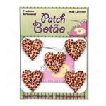 Botão Patch Coração Trabalhado Vermelho 1259 - 5 Unid