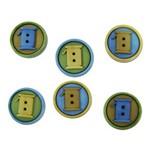 Botões P/Apliques Carretel de Linha 5881Diu