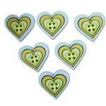 Botões P/Apliques Coração Estil Azul 5821Diu