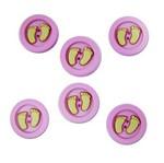 Botões P/Apliques Pé Bebe Menina 5873Diu TEC