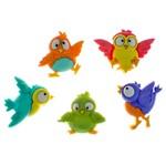 Botões para Apliques Pássaros Coloridos DIU7688 - Toke e Crie