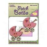 Botton Patch Carrinho de Bebê Rosa 2090 - 2 Unid