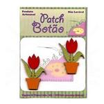 Botton Patch Tulipa Vermelha 2078 - 2 Unid