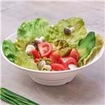 Bowl para Salada Melamina Jade Oval Branco