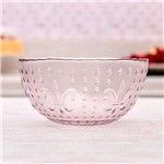 Bowl Rosa Hibisco 580ml Havan Vidro