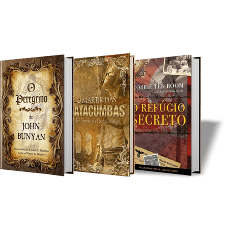 Box Clássicos: o Peregrino   o Mártir das Catacumbas   o Refúgio Secreto
