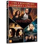 Box DVD Coleção - Inferno, Anjos & Demônios, o Código da Vinci - (3 Discos)