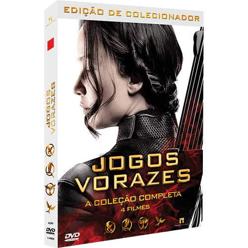 Box DVD - Jogos Vorazes: Edição Colecionador (4 Filmes)