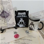 Box Harry Potter com 6 Itens - Carta + Caneca + Caixinha + Mapa + Bilhete + Feitiços