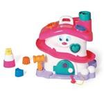 Brinquedo Activity House Girl com Blocos Didáticos Rosa/Branco 724 - Calesita