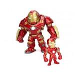 Brinquedo Boneco Hulkbuster 10 Cm e Iron Man 6 Cm 4066 - Dtc