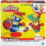 Brinquedo Conjunto Play-Doh Capitão América e Homem de Ferro - Hasbro