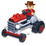 Brinquedo de Montar Trator Vermelho 52 Peças 8045 - Banbao
