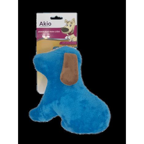 Brinquedo de Pelúcia - Cão Branco/azul - Akio