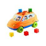 Brinquedo Educativo Baby Car Calesita Laranja