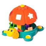 Brinquedo Educativo Caracol Didático Calesita Laranja
