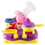 Brinquedo Fogão Cooktop Eletrônico Faz Movimentos e Emite Sons Peppa Pig - Cozinha Infantil - Multikids