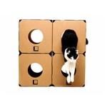 Brinquedo Gato Labirinto Caixa Papelao C/ 04 Cubos Box