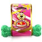 Brinquedo Osso Plaque Ataque Borracha com Cravo Verde - Tam M
