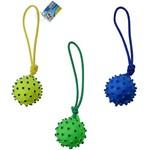 Brinquedo para Cachorro Bola com Corda Colors 9cm de Ø e Som