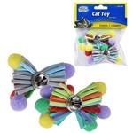 Brinquedo para Gato Pom Pom com Guizo Colors com 2 Unidades na Solapa