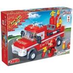 Brinquedo para Montar Caminhao de Bombeiro 158pcs Banbao Uni