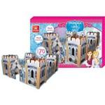 Brinquedo para Montar Castelo Princesa do Gelo Brincadeira de Criança