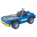 Brinquedo para Montar Policia Carro Policial 98pcs Play Cis