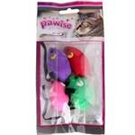 Brinquedo Pawise Ratos para Gatos - 4 Unidades