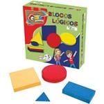 Brinquedo Pedagogico Madeira Blocos Logicos 48 Pcs Carlu