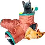 Brinquedo Túnel C/ 3 Saídas P/ Gatos - Chalesco