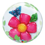 Bubble Duplo 24 Polegadas - Flor e Borboleta - Qualatex