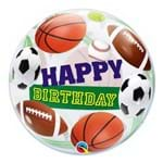 Bubble 22 Polegadas - Aniversário com Bolas Esportivas - Qualatex