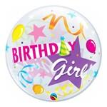 Bubble 22 Polegadas - Aniversário Menina, Festa e Chapéu - Qualatex